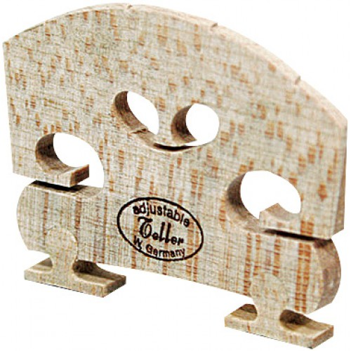 Violin Bridge - Teller Style Bridge. Adjustable. Low. 4/4 Size